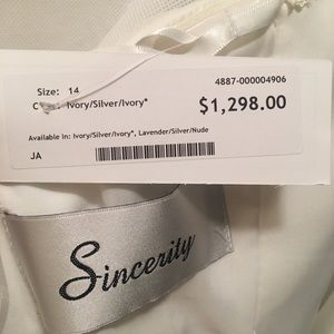 Sincerity Bridal Dresses - Spring 2019 Couture Wedding Dress- NEVER WORN!